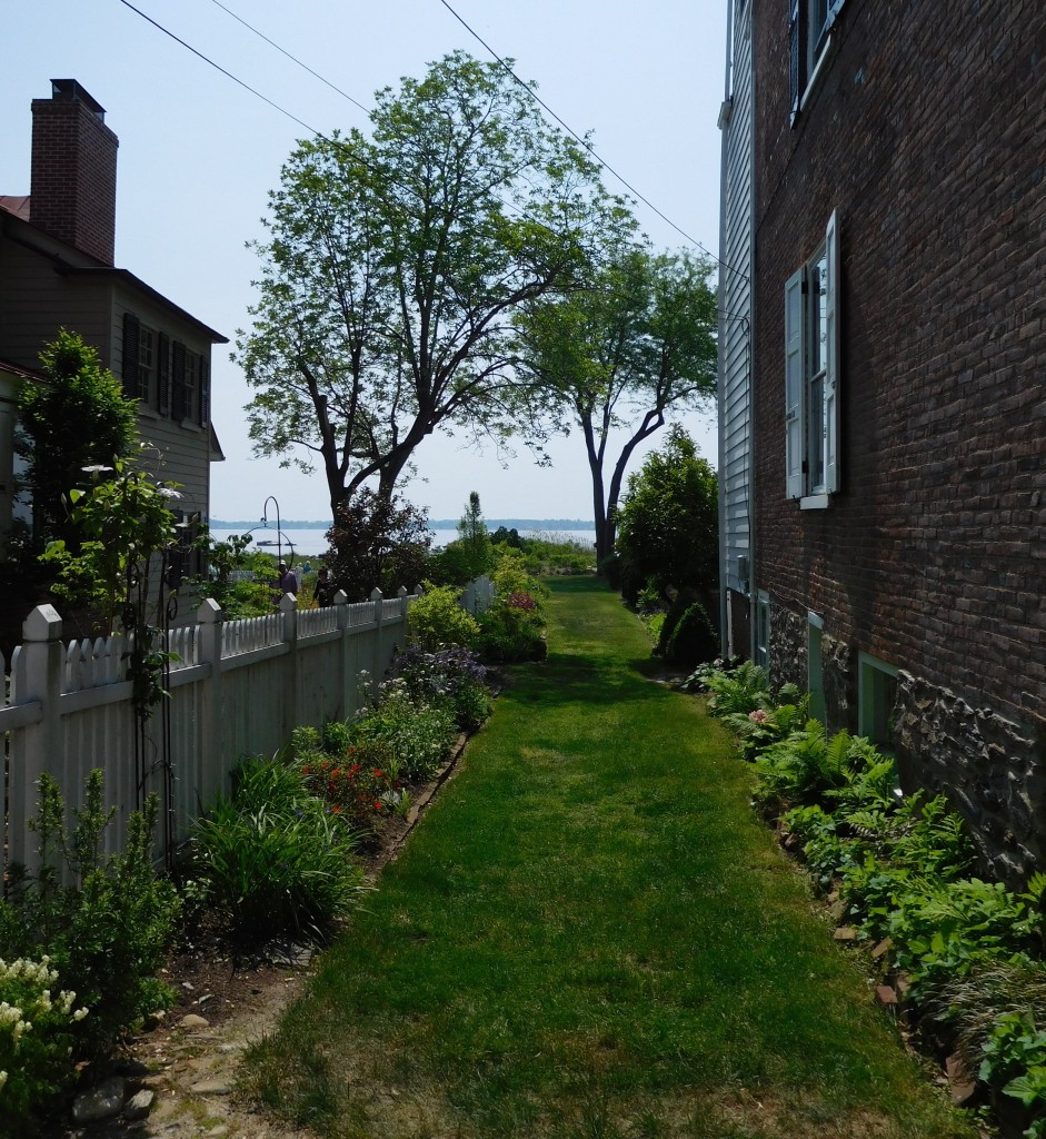 Gardens and Views of the Delaware River from The Strand in New Castle, Delaware