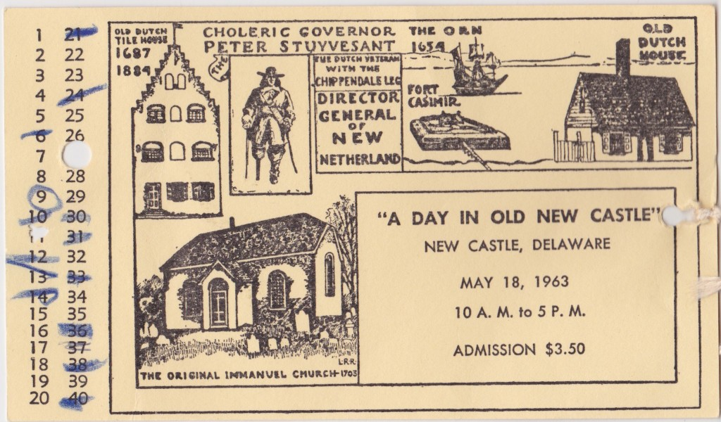 Mid-20th-Century Day in Old New Castle Ticket (Nicole Belolan's Collection)