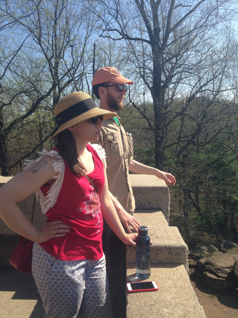 Me, My Arm's Arm, and Tyler at Gettysburg, PA (Spring 2015)