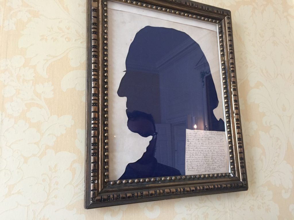 George Washington's Silhouette by Samuel Powel, 1787, In Situ at the Powel House in Philadelphia, PA