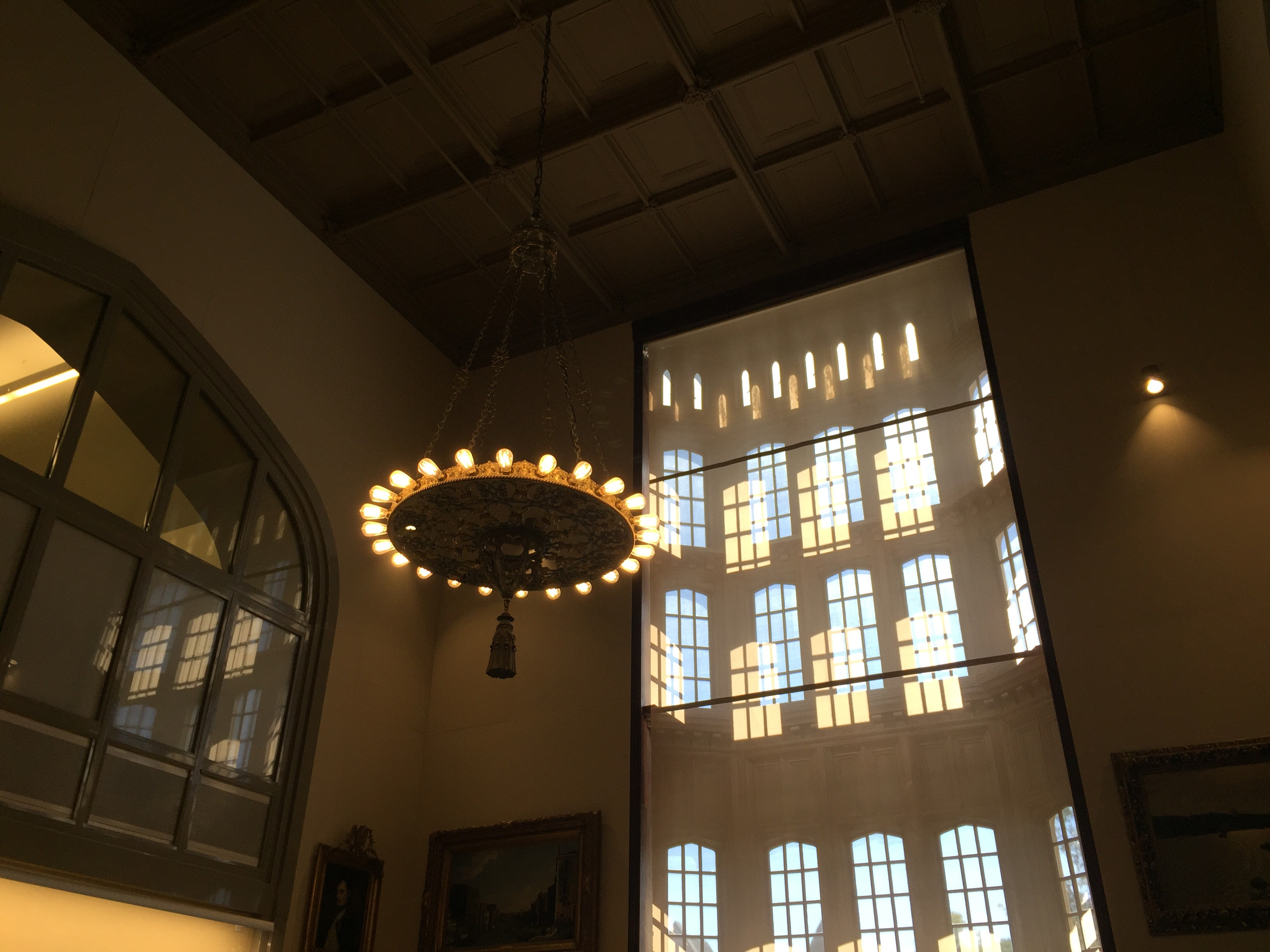Lighting fixture, Leon Levy Dental Medicine Library.